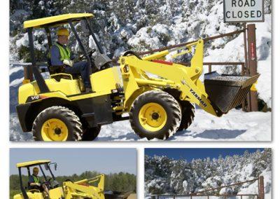Retouch Tractor into Snow Scene
